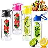 Best Fruit Infuser Water Bottle Bpa Frees - Laptone Leak Proof Fruit Infuser Unisex Outdoor Water Review