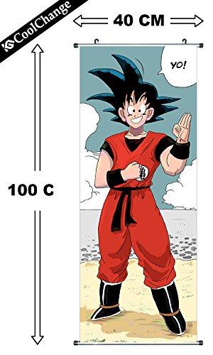 CoolChange Poster/ Kakemono Enrollable de Dragon Ball de Tela, 100x40c