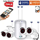 (2018 Newest) Security Camera System Wireless,Full HD 4CH 1080P Wireless Video Security System