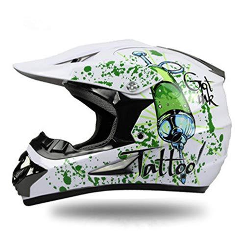 Stampa Moto Stampa su Strada Racing Casco Cross Country Casco Adulto Motobiker