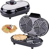 Macchine per Waffle | Waffle maker | Piastra per Waffel a 10 cuori | cuoricini | Piastra per Waffel | Waffel a cuore doppio | termostato | spia di preparazione | 1000 W
