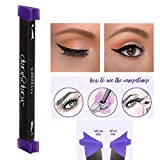 haosshop Eyeliner Stempel Siegel Eyeliner Liquid mit Pinsel Eye Make-up-Set Easy Verwendung