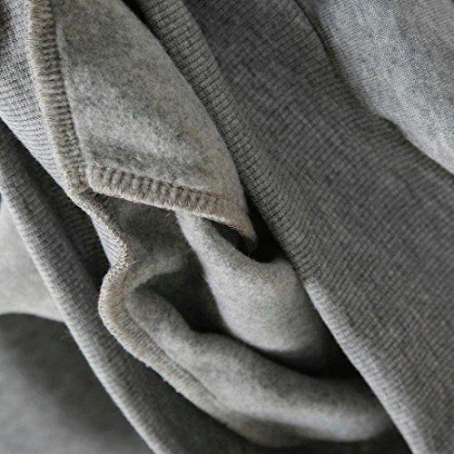 Minetom Donna Autunno Mode Felpe Con Cappuccio Maglie A Manica Lunga Cappuccio Felpa Top Sweatshirt Hoodies Jumper Pullover Grigio Fiore3