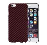 iPhone 6 / iPhone 6s Hülle mit Schutzfolie - schwarz / rot 4.7 Zoll Schutzhülle ultra dünn 0.65...