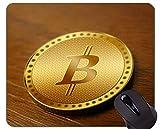 Yanteng Tappetino per Mouse da Gioco in Gomma Antiscivolo, tappetini per Mouse da Gioco rettangolari con Capitale Bitcoin in Denaro