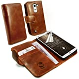Tuff-Luv Personalisierte Tasche (z.B Ihr Name, andere Name, Inschrift) Vintage Ledertasche Hülle für LG Pro 2- braun