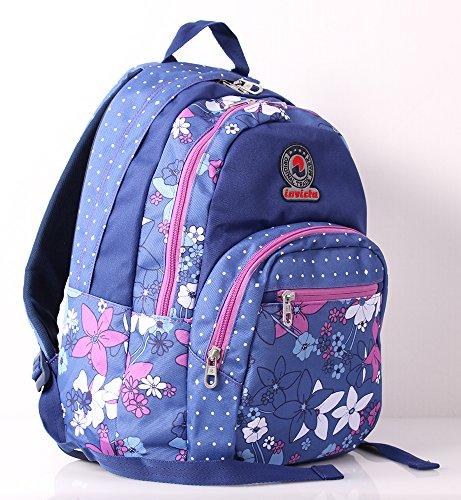 d0769a1756 ZAINO INVICTA format - FLORET - Blue Rosa - scuola e tempo libero - 31 LT