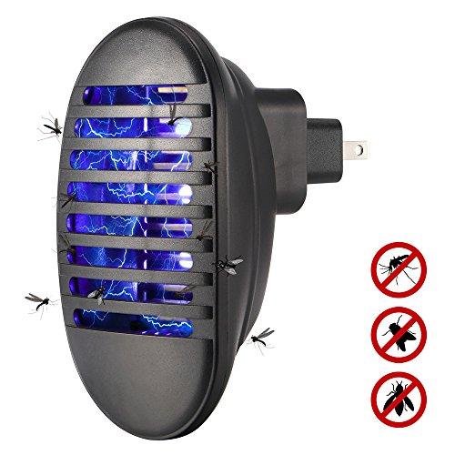 YHML Bug Zapper mit UV-Licht, LED tragbare Moskito-Mörder 110V-240V Bienen-Mörder-Lampe Insekten-Mörder Zapper Inhalator-Lampen-Falle elektronisch,Black - Schläger Bürste