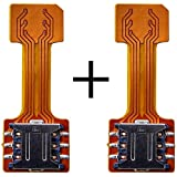 Anonymous New Hybrid SIM Slot Adapter, Avails You To Run 2 SIM And Micro SD Card, All At A Time (Nano to Nano Sim Slot) Pack Of 2
