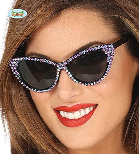 Gafas Años 50 con brillantes lila