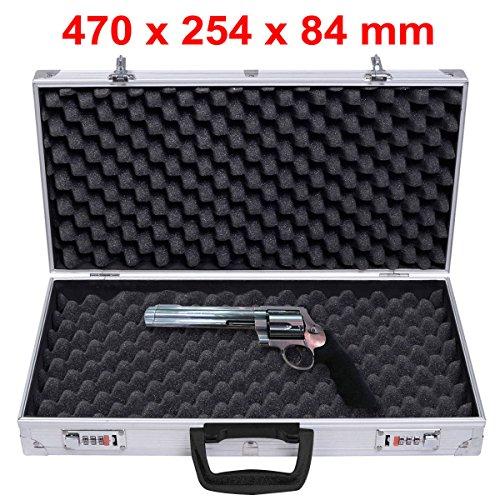 Generic * * pisto Fall Carry Stol Gun abschließbar GE lockab Sicherer Box Flight Case S Aluminium Pistole Gun E Flight C Flight - Gun-case-schrank