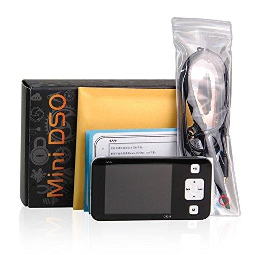 HermosaUKnight Mini 2,8-Zoll-TFT-LCD-Bildschirmanzeige Digitales Speicheroszilloskop DS211-schwarz