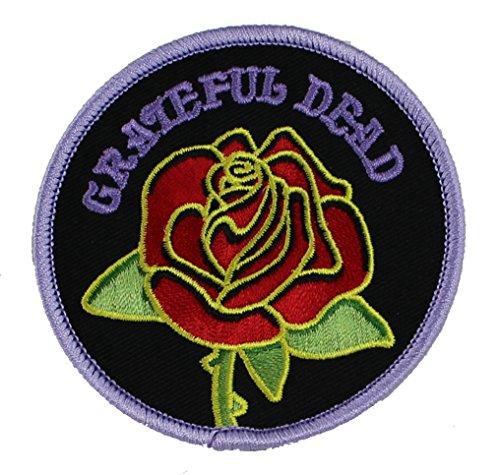 GRATEFUL DANKBAR DEAD Rose with Logo Patch Fleck - Officially Licensed Classic Rock GDP Artwork, 3