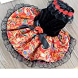 Folk-Art-Sommer-Kleid-Rock Dog Puppy Brautkleid Lace-Haustier-Hunderock