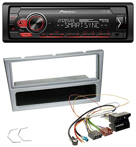 caraudio24 Pioneer MVH-S300BT MP3 Bluetooth AUX USB Autoradio für Opel Combo C Corsa C Tigra Meriva ab 2005 Silber