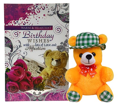 Saugat Traders Birthday Gift Combo - Teddy With Birthday Greeting Card
