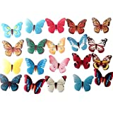 #6: Coxeer 30Pcs Butterfly Cake Decoration Cake Topper Set Fashionable Creative Edible Cupcake Decor