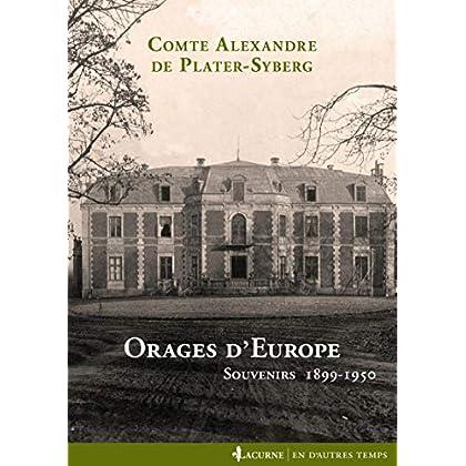 Orages d'Europe: Souvenirs 1899-1950