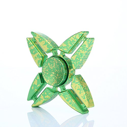 Preisvergleich Produktbild Fidget Hand Spinner Dreieck Einzelfinger Dekompression Gyro Hand Spinner Fingerspitze Spinner Gyro Adult Kinder Spielzeug Stress Reduzierstück (Grün)