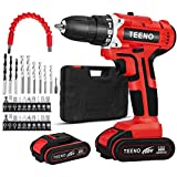 TEENO Perceuse Visseuse Sans Fil 20V à 2 Vitesses, 2x2.0 Ah Batteries Lithium-ion,...