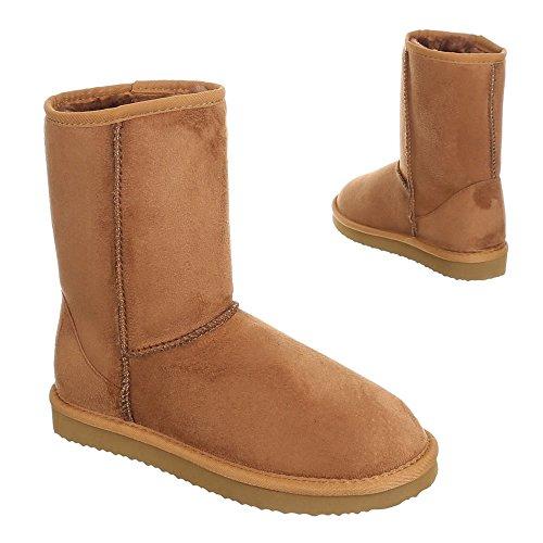 Damen Schuhe, IR-500, BOOTS WARM GEFÜTTERTE STIEFELETTTEN Camel 1