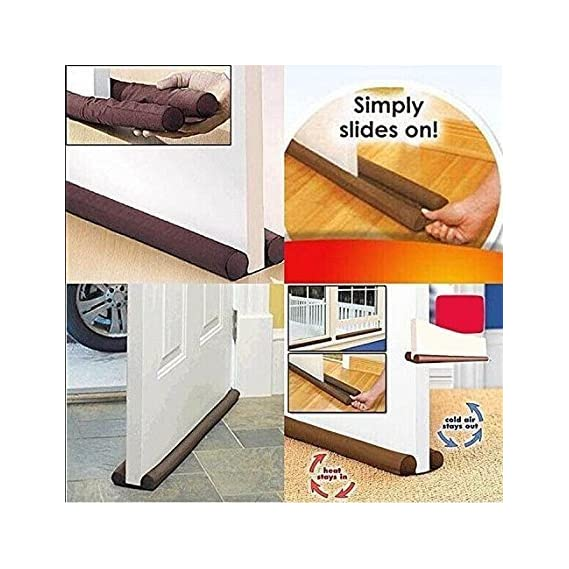 CPEX Twin Guard Extreme Energy Saving Under Door Draft Stopper (Brown, 684746)