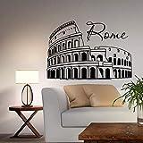 Roma Colosseo Murale Wall Sticker Home Decor Soggiorno Italia Skyline Silhouette Camera da letto Decal Office Room Decoration 42 * 61CM
