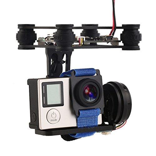 Preisvergleich Produktbild Water & Wood Black FPV 2 Axle Brushless Gimbal With Controller For DJI Phantom GoPro 3 4