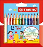 Dreikant-Buntstift - STABILO Trio dick kurz - 12er Pack -