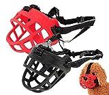 Zokra (TM) 6 Gr??e weichen Silikon-Hund Maulkorb Anti Bark Bite Dog Mund Rote schwarze Maske [3]