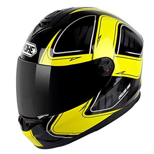 OUTO Abnehmbare Helm-Multifunktions-Anti-Fog-Objektiv volle Abdeckung für Männerfrauen Verstärken Schutz Breaking Wind (Farbe : Black and White Whirlwind, größe : XL)
