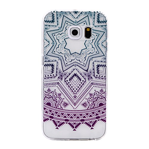 Cozy Hut Samsung Galaxy S6 Edge Hülle Ultra Dünn Soft Flex Silikon Handyhülle/Bumper-Style Premium-TPU Silikon/Durchsichtige Schutzhülle für Samsung Galaxy S6 Edge - Fünf-spitzer Stern