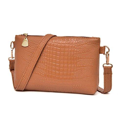Handtasche Btruely Jahrgang Damen Schultertasche Elegant Frau Mini Messenger Quaste Umhängetaschen Klein Tote Damen Handtasche (Braun) (Zwei Leinwand Messenger Bag Tasche)