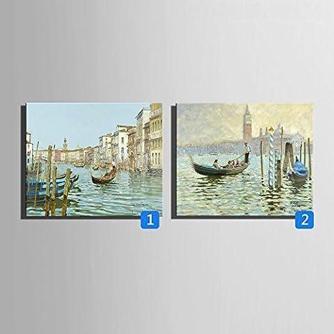WHH Acqua colore dipinti a mano pittura a olio, cornice decorativa, den corridoio decorazione , 2