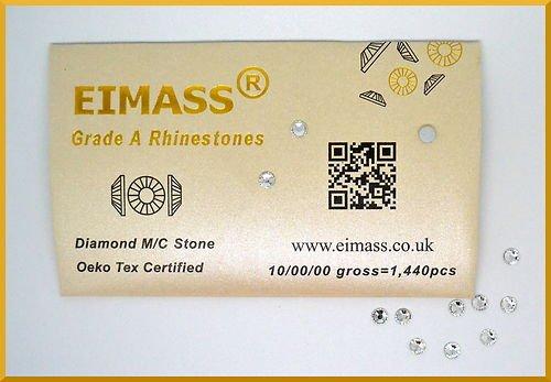 100x trasparente cristallo SS20(4.8mm) eimass® grado A Cristalli, laminati, retro fissaggio a vetro strass, gemme, brillantini, l' alternativa Swarovski