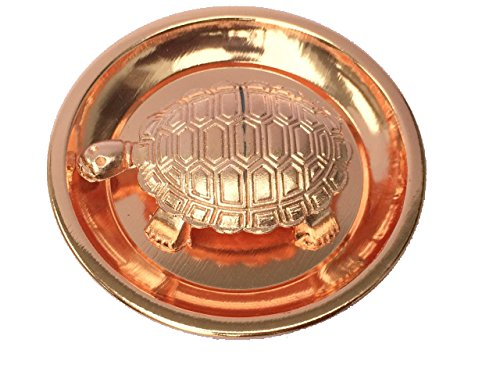 Feng Shui Metal Turtle With coper color Plate Tortoise for good luck