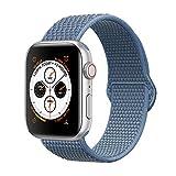 Corki pour Bracelet Apple Watch 38mm 40mm, Nylon Bracelet de Remplacement Bande pour Apple Watch iWatch Séries 4 (40mm), Séries 3/ Séries 2/ Séries 1 (38mm), Bleu Cape Cod