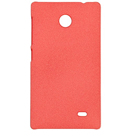 Heartly QuickSand Matte Finish Hybrid Flip Thin Hard Bumper Back Case Cover For Nokia X - Soft Orange  available at amazon for Rs.299