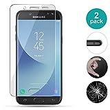 AIOIA Cristal Templado Premium para Samsung Galaxy J5 2017【2 Paquete】, Protector de Pantalla de 9H Dureza para Samsung Galaxy J5 2017 Fácil de Instalar Sin Burbujas, Resistente a Arañazos y Rasguños