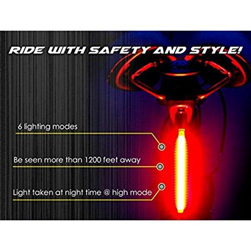 Zantec haute intensité LED arrière Accessoires s'installe sur n'importe quel casques de vélos de route facile d'installation pour le vélo de sécurité lampe de poche ultra lumineux 26 LED Lumière de vélo USB rechargeable Vélo Feu arrière
