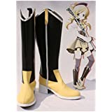 Puella Magi Madoka Magica Tomoe Mami Stiefel Karneval Schuhe Tomoe Mami Cosplay Boots Danmen Schwarz
