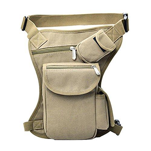 Sfit Herren Beintasche Military Tactical Hüfttasche Camo Bauchtasche für Reisen Radfahren Bergsteigen Sports Outdoor mit Reißverschluss