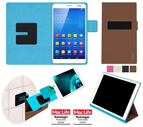 reboon Hülle für Huawei MediaPad X1 7.0 Tasche Cover Case Bumper | in Braun | Testsieger