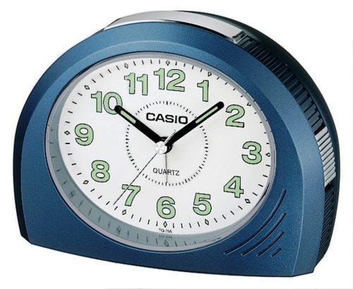 CASIO Sveglia Analogica da Tavolo, Colore Blu