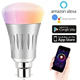 Expower B22 Smart WiFi Light Bulb, Dimmable 7W RGB Led Bulb Works with Amazon Alexa Echo Remote Control by Smartphone IOS & Android, 60 W Equivalent