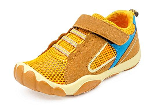 SAGUARO Jungen Trekking Wanderschuhe Kinderschuhe mit Klettverschluss Leicht Sport Schuhe Outdoor Laufschuhe Mädchen Turnschuhe Sneaker Braun, 36 EU