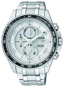 Reloj Citizen Super Titanium CA0340-55A de cuarzo para hombre, correa de titanio color plateado de Citizen