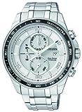 Citizen Super Titanium CA0340-55A - Reloj cronógrafo de cuarzo para hombre, correa de titanio...