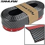 #6: FUN n SHOP SAMURAI CARBON FIBER ORIGINAL BLACK Car Body Kit Bumper Lip Side Skirt Rubber Edge Decorative Protector