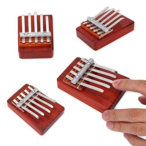 Kalimba Thumb Piano Daumenklavier 5/6 Key Finger Klavier Mbira Traditionellen Finger Daumen Klavier Instrument für Kind Kinder Musikalische Begleitung Trainingswerkzeug(5 Schlüssel)